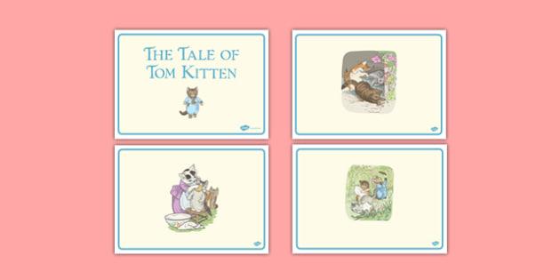 Beatrix Potter - The Tale of Tom Kitten Short Story Sequencing - beatrix potter, tom kitten