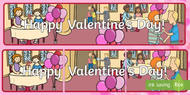 Happy Valentine's Day Banner - Valentine's Day,  Feb 14th, love, cupid, hearts, valentine, 14th Feb