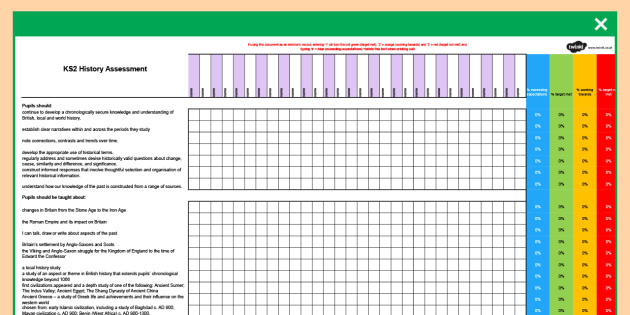 ks2 history class checklist assessment spreadsheet ks2 history assessment spreadsheet new curriculum