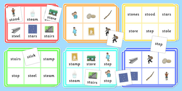 St Bingo Game - st sound, bingo, game, bingo game, activity