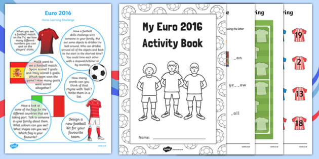 EYFS Euro 2016 Reception FS2 Home Learning Activity Pack