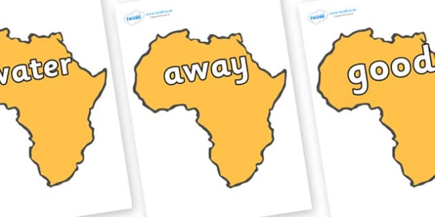 Next 200 Common Words on Africa - Next 200 Common Words on  - DfES Letters and Sounds, Letters and Sounds, Letters and sounds words, Common words, 200 common words