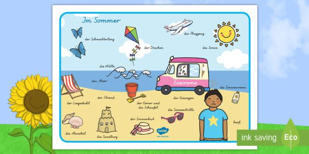 NEW * Sommerszene Wortschatz: Querformat - Sommer, Sommerzeit