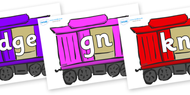 Silent Letters on Carriages - Silent Letters, silent letter, letter blend, consonant, consonants, digraph, trigraph, A-Z letters, literacy, alphabet, letters, alternative sounds