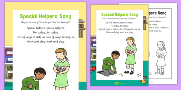 Special Helpers Song