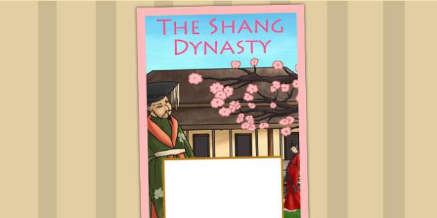 The Shang Dynasty Book Cover - shang dynasty, folder cover, ks2