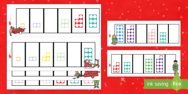 Christmas Themed Missing Number Shape Activity