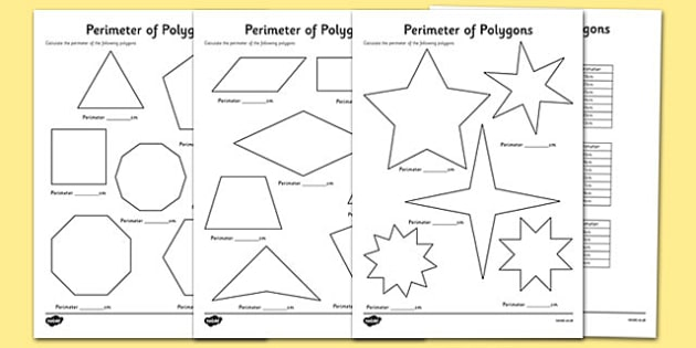 Perimeter of Polygons Worksheets - perimeter, polygons, worksheets