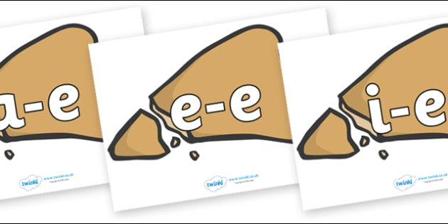 Modifying E Letters on Egyptian Flatbread - Modifying E, letters, modify, Phase 5, Phase five, alternative spellings for phonemes, DfES letters and Sounds