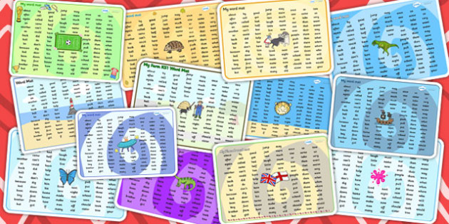 KS1 Word Mat Variety Pack - ks1, mat, pack, words, resources