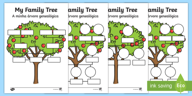 My Family Tree Worksheet Worksheets Englishportuguese My Family