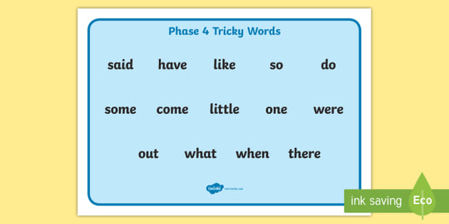 FREE! - Tricky Words Phase 4 Word Mat - KS1 Resource