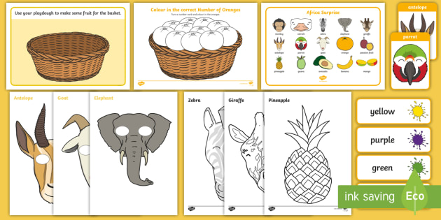 Story Sack to Support Teaching on Handa's Surprise - sacks, pack, packs, bundle, bundles