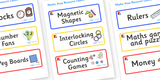 Mondrian Themed Editable Maths Area Resource Labels - Themed maths resource labels, maths area resources, Label template, Resource Label, Name Labels, Editable Labels, Drawer Labels, KS1 Labels, Foundation Labels, Foundation Stage Labels, Teaching La