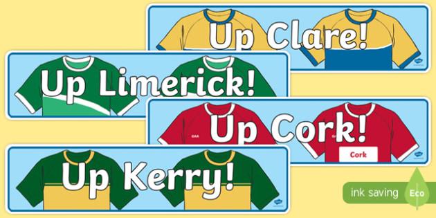 Munster Counties GAA Display Banner-Irish