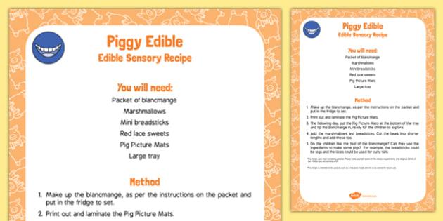 Piggy Edible Sensory Recipe