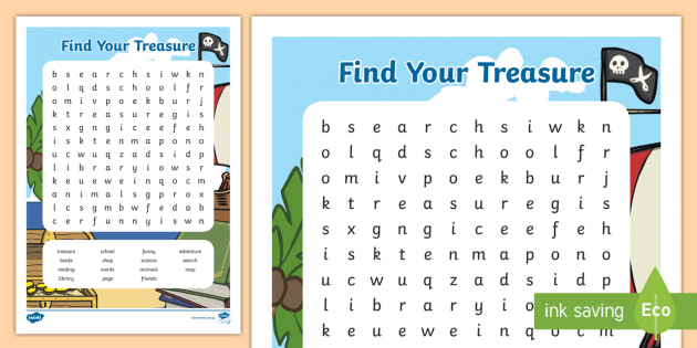 New Book Week 2018 Word Search Cbca Find Your Treasure