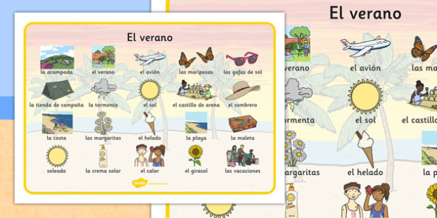 Tapiz de vocabulario de verano - tapiz, verano, vocabulario