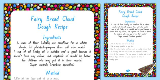 Fairy Bread Cloud Dough Recipe