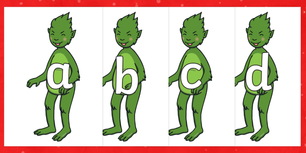 The Christmas Imp A-Z Display Alphabet Line - The Christmas Imp, the grinch, the grinch who stole christmas, christmas, green, imp, display, lette