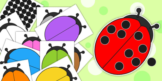 Editable Ladybird and Spots Cut Outs - edit, activity, ladybirds