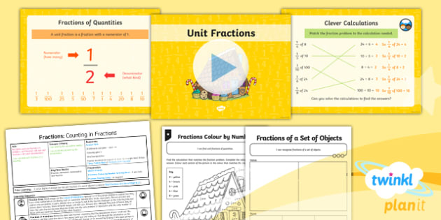 PlanIt Maths Y3 Fractions Lesson Pack Recognise and Use Fractions of a Quantity (1)
