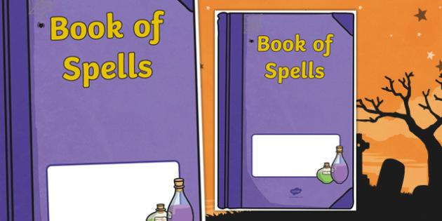 Halloween: Book of Spells Editable Book Cover