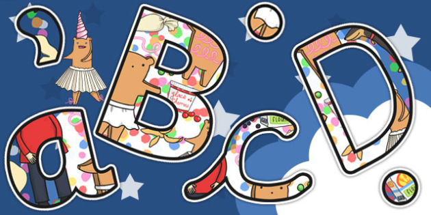 Themed Display Lettering to Support Teaching on Biscuit Bear - biscuit, bear, display