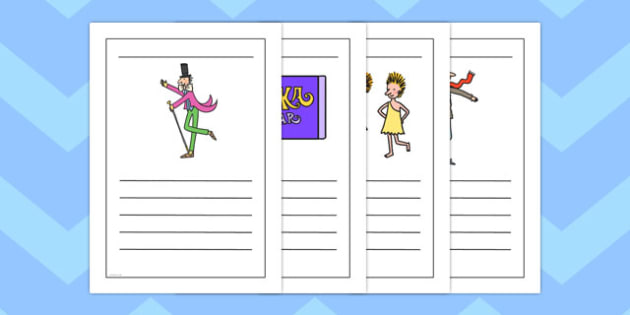 Writing Frames to Support Teaching on Charlie and the Chocolate Factory - australia
