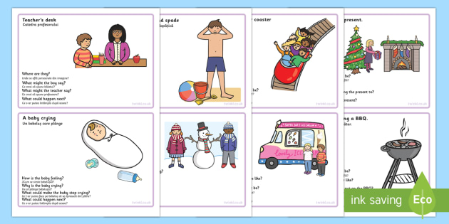 Inference Picture And Question Cards Romanian