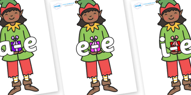 Modifying E Letters on Green Elf (Girl) - Modifying E, letters, modify, Phase 5, Phase five, alternative spellings for phonemes, DfES letters and Sounds