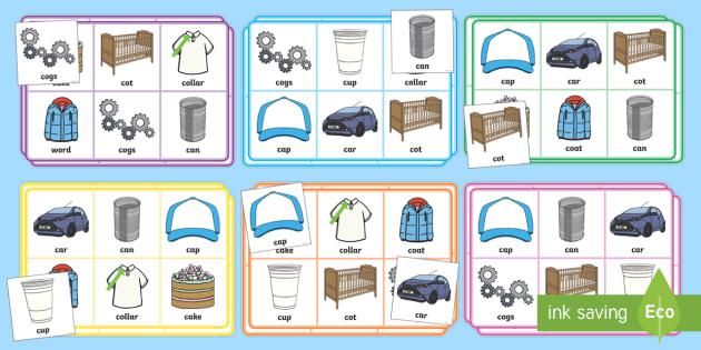 Initial c Sound Bingo - Initial 'e' sound Bingo - initial sound, bingo, lotto, game, pack, e sound, sounds, bingu, binog,