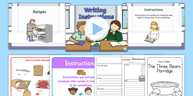 Writing Instructions Resource Pack Instructions Writing