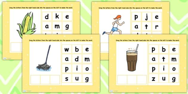 CVC Words O Spelling Flipchart - CVC words, spellings, flipchart