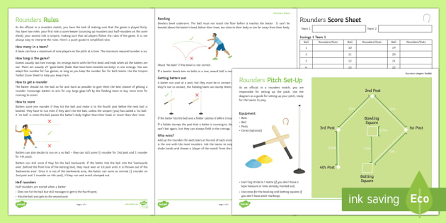 Umpires Toolkit Resource Pack Rounders Rules Bases Pitch