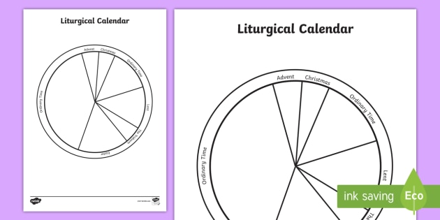photo about Liturgical Year Calendar Printable named Liturgical Colors and Calendar Video game - Liturgical
