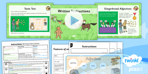 Traditional Tales: The Gingerbread Man: Instructions 2 Y2 Lesson Pack - traditional tales, fairy tales, storytelling, retelling, story map, talk for writing
