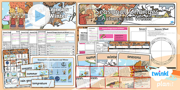 Science: Seasonal Changes (Autumn and Winter) Year 1 Unit Pack