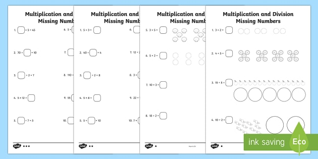 Multiplication Activity Sheets - KS1 Maths Resources