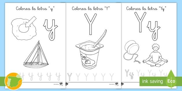 NEW * Hoja de colorear: La letra y - primaria, colorear