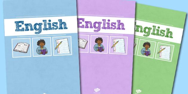 A4 English Divider Covers-maths,  english divider covers, divider covers, english dividers, A4 covers, A4 divider covers, literacy