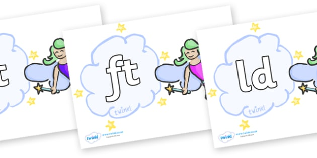 Final Letter Blends on Fairies - Final Letters, final letter, letter blend, letter blends, consonant, consonants, digraph, trigraph, literacy, alphabet, letters, foundation stage literacy