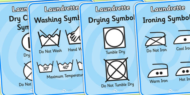 Washing Symbol Display Posters - washing, wash, wash poster