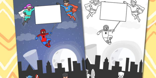 Superhero Themed Calendar Template - superhero, calendar, year