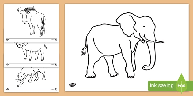 Elephant cartoon coloring pages Royalty Free Vector Image | 315x630