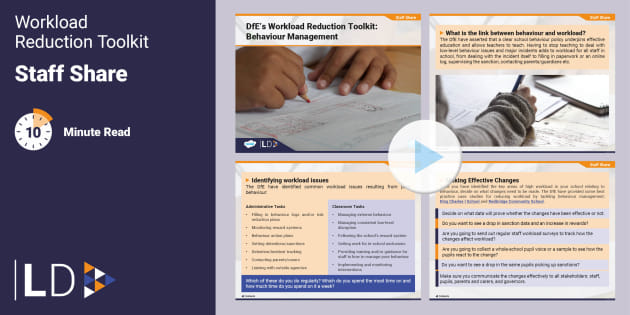 FREE! - Staff share: DfE Workload Reduction Toolkit - Behaviour