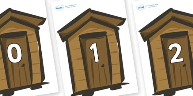 Numbers 0-100 on Sheds - 0-100, foundation stage numeracy, Number recognition, Number flashcards, counting, number frieze, Display numbers, number posters