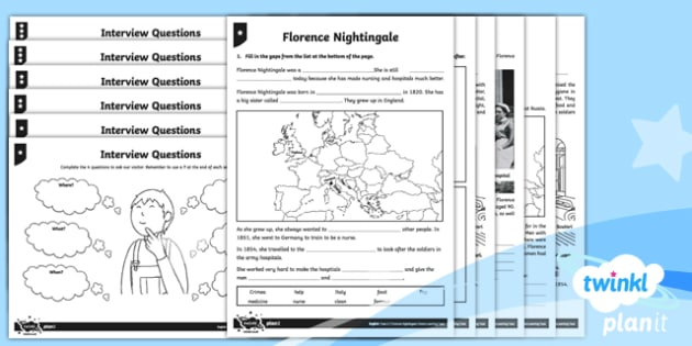 Significant Individuals: Florence Nightingale Y2 Home Learning Tasks - Nurses, Victorians, Crimean war, mini topic, year one history, Mary Seacole, homework
