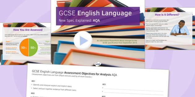 GCSE English Language New Spec Explained AQA - gcse, new spec, aqa
