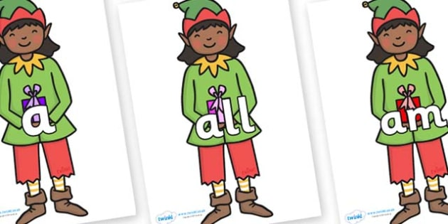 Foundation Stage 2 Keywords on Elves - FS2, CLL, keywords, Communication language and literacy,  Display, Key words, high frequency words, foundation stage literacy, DfES Letters and Sounds, Letters and Sounds, spelling